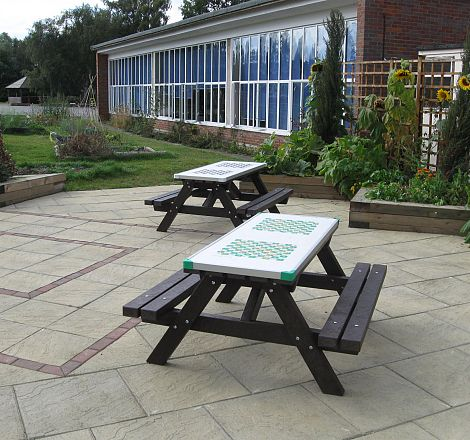Primary School Seating Area and Vegetable Beds, After