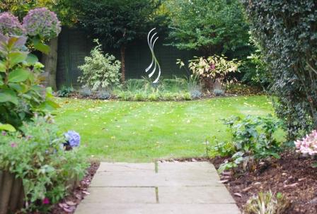 Bespoke Sculpture sourced for new flower bed